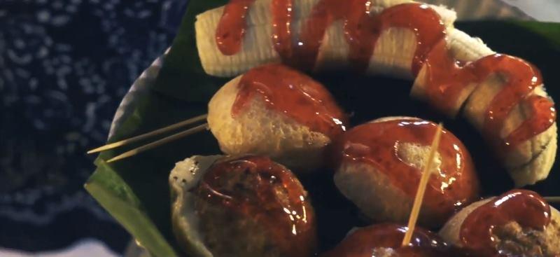 Тайская еда, пирожки с начинками