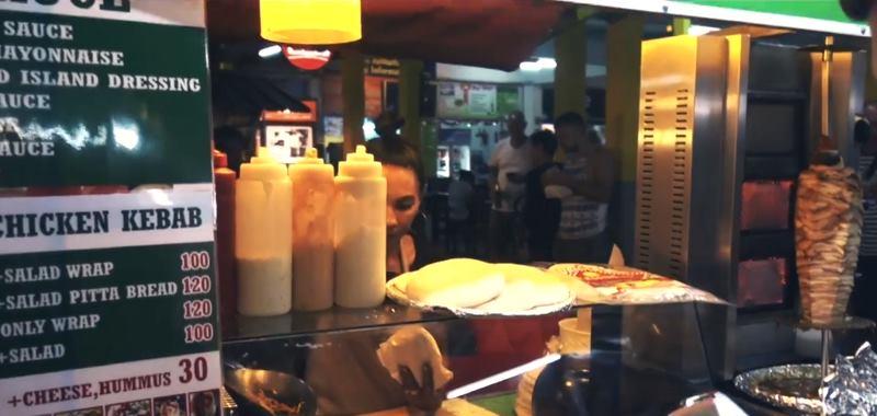 Тайская еда шаурма в тайланде - рынок еды в тайланде, что ночью поесть в тае, тайские вкусняшки-