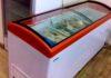 Морозильный ларь, оснащенный стеклянной крышкой.описание, особенности