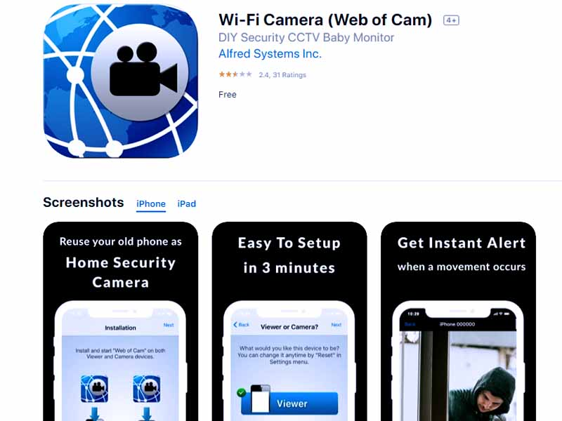 11 вариантов использования смартфона: Wi-Fi Camera (Web of Cam)