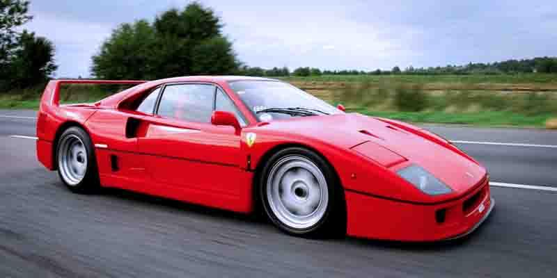 Самые быстрые серийные автомобили: Ferrari F40