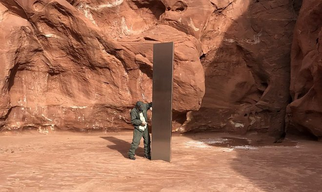 Лучшие новости о металлической призме, найденной в пустыне Юты.