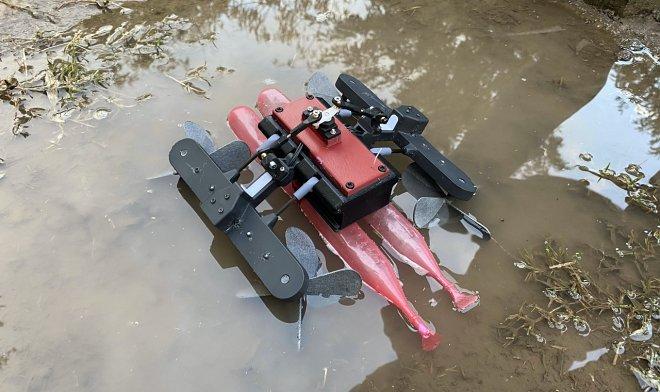 Лучшие новости о роботе-ящерице AmphiSTAR и его способности ловко бегать по воде
