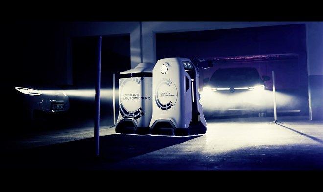 Лучшие новости о разработке Volkswagen компактного робота-зарядника.