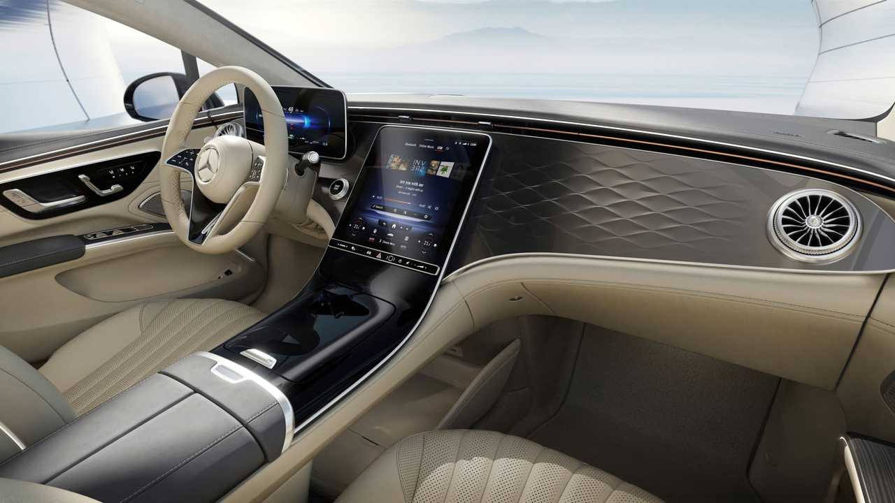 2022 Mercedes EQS interior without Hyperscreen