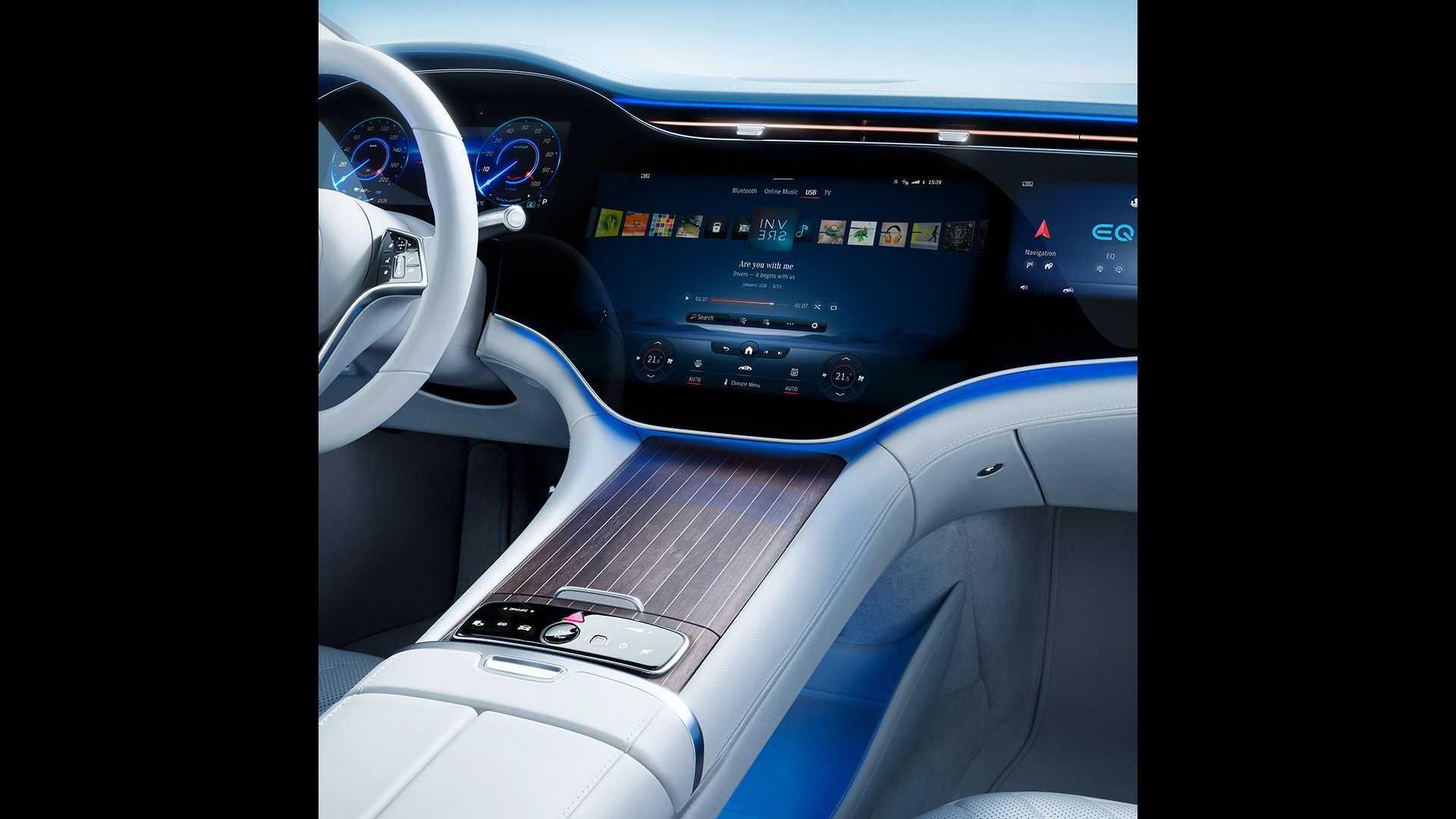 Лучшие новости о седане EQS от Mercedes