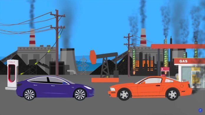 Лучшие новости о сравнении вреда от электрических авто и машин с ДВС