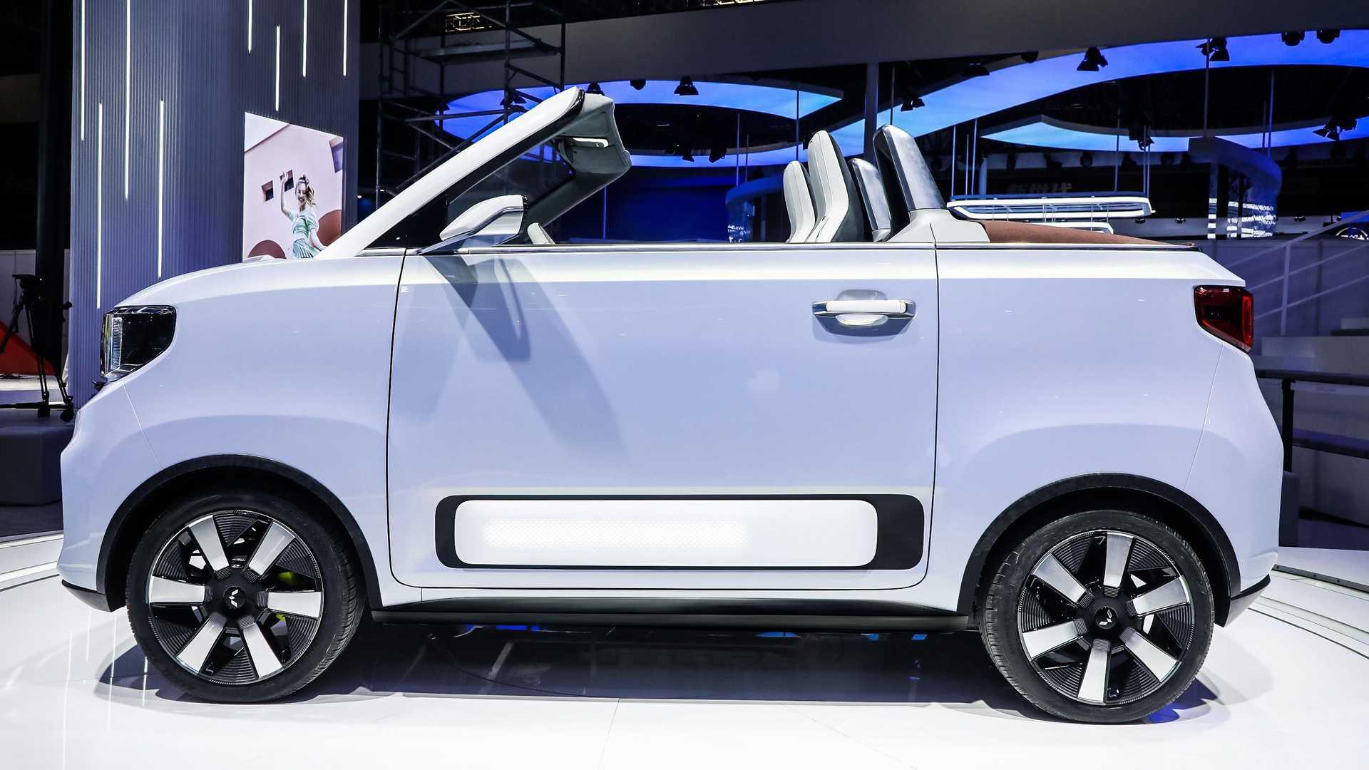 Лучшие новости о презентации нового электрического кабриолета Wuling Hongguang Mini EV