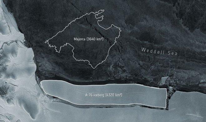 Лучшие новости: от Антарктиды откололся гигантский айсберг